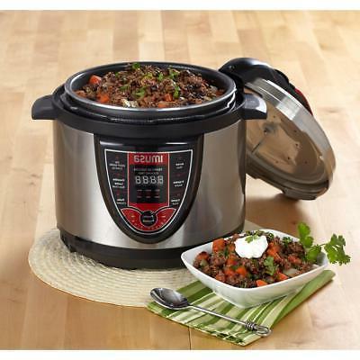 IMUSA Pressure Cooker Qt Digital Cook New