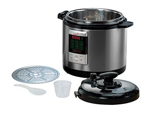 Rosewill Programmable Pressure Cooker 6Qt, 8-in-1 Instapot Cooker: Rice Cooker, Slow Cooker Steamer, Fryer, Yogurt HotPot