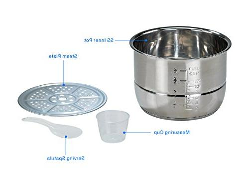 Rosewill Programmable Pressure 6Qt, 8-in-1 Instapot Cooker: Rice Slow Cooker Pressure Yogurt Maker, Warmer,