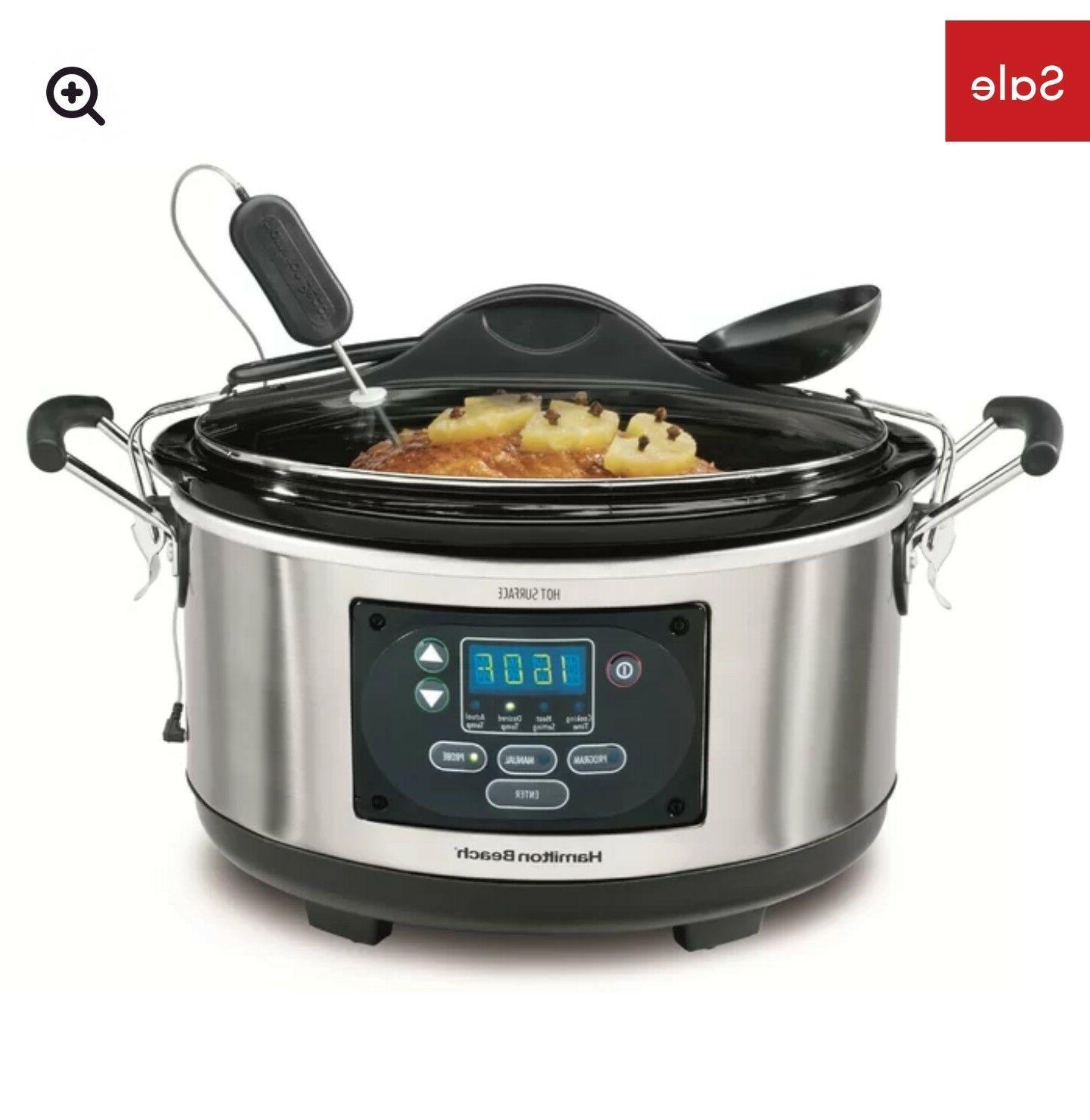 Programmable Slow Cooker Stay or Go and Forget Beach