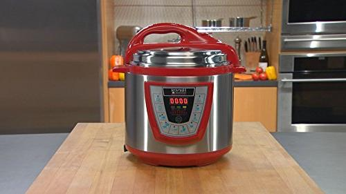10-in-1 PressurePro Pressure Multi-Use Programmable Pressure Slow Cooker, Sauté and Red