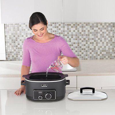 Ninja 3-in-1 Slow Cooker + Recipe Book + Utensil Kit