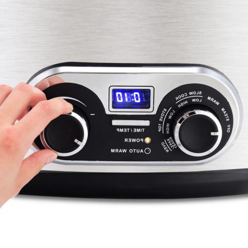 Quart Slow Cooker Program Min to 4 110V