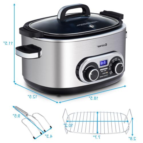 Quart Slow Cooker Min to 12 4
