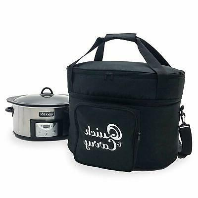quick and carry slow cooker travel tote