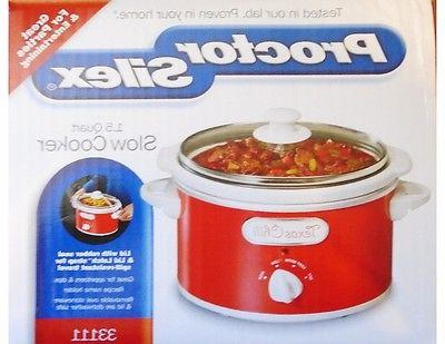 PROCTOR RED WHITE 1.5 SLOW COOKER Pot Lid
