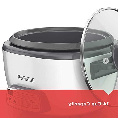 BLACK+DECKER 14-Cup Cooker and Steamer, White, RCD514