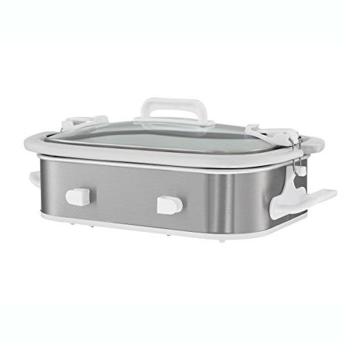 Crock-Pot SCCPCCM355-SS Slow Cooker Steel White