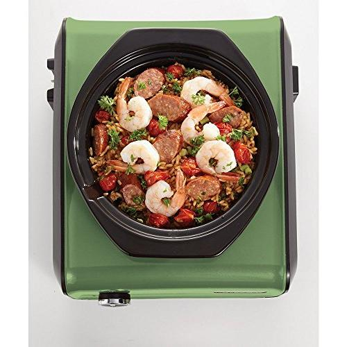 Crock-Pot Oval Connectable Entertaining 3.5-Quart, Sage