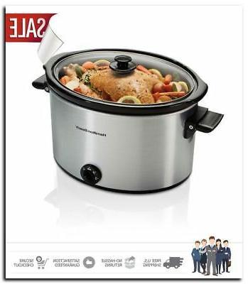 slow cooker 10 quart large crock pot