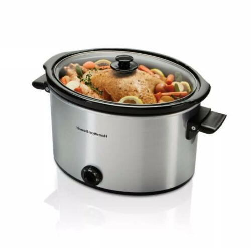 slow cooker 10 quart large kitchen crockpot
