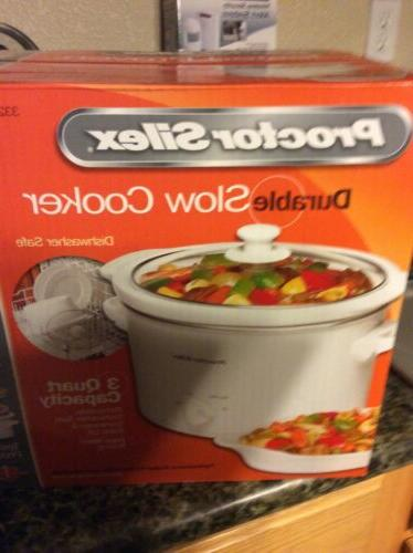 slow cooker 3 quart capacity new in
