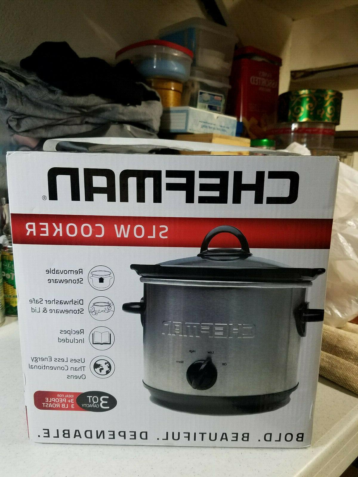 slow cooker 3qt capacity nos