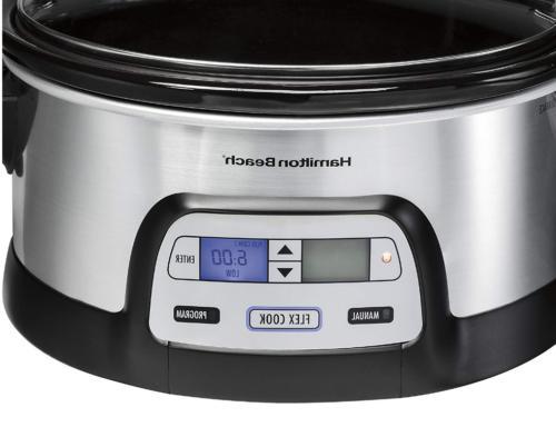 Slow Cooker, Dual Digital Steel