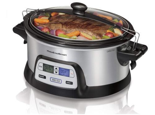slow cooker 6 quart dual digital timer