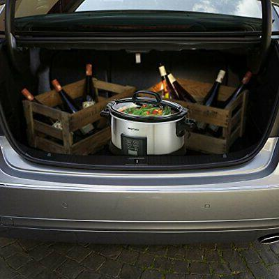 COCTIONE Slow Cooker Quart Oval Cooker,
