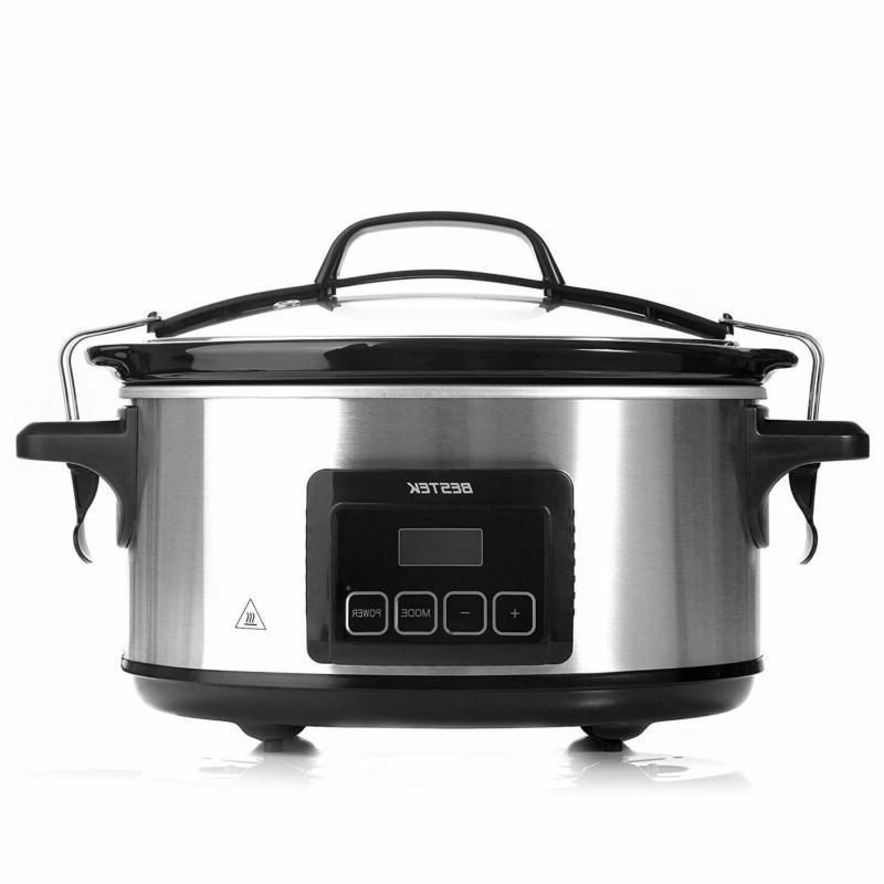 6 quart slow cooker digital screen pot