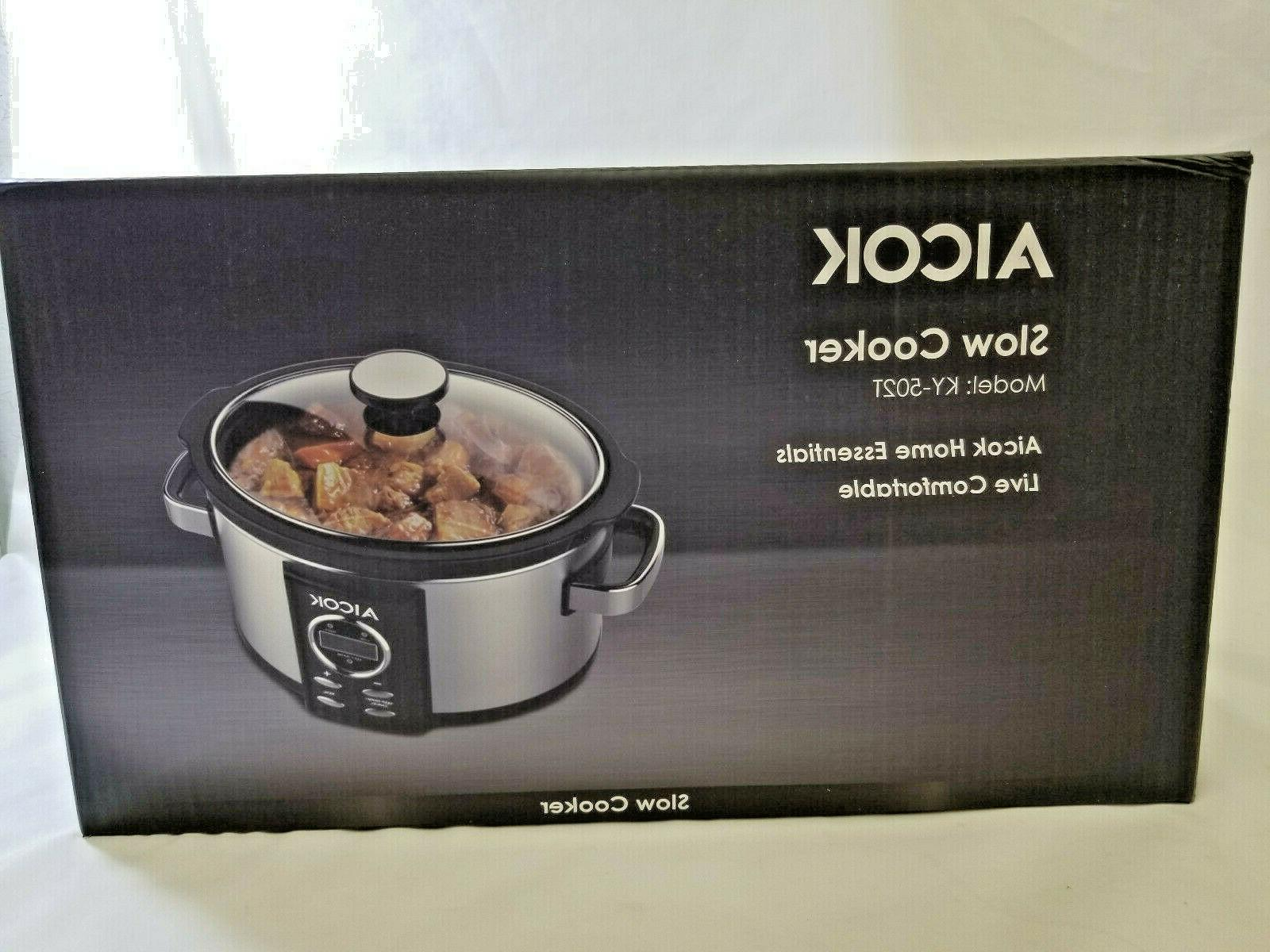 Slow Cooker 7 Quart with Hour Auto