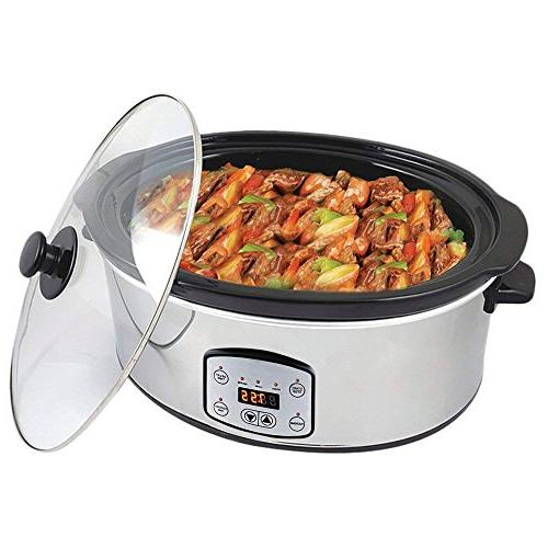Haolide Shape Stainless Slow Cooker, Ceramic