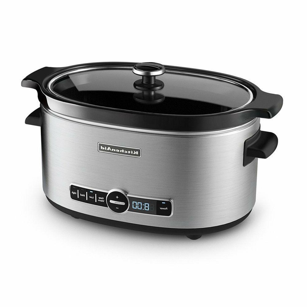 slow cooker crock pot digital oval home