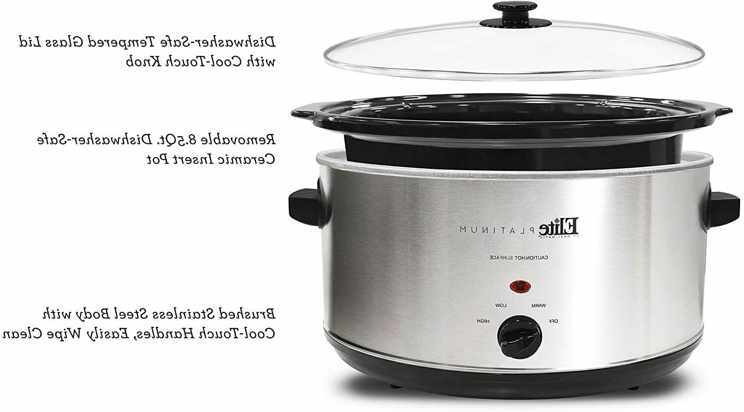 Slow Cooker Oval 8.5 Manual Removable