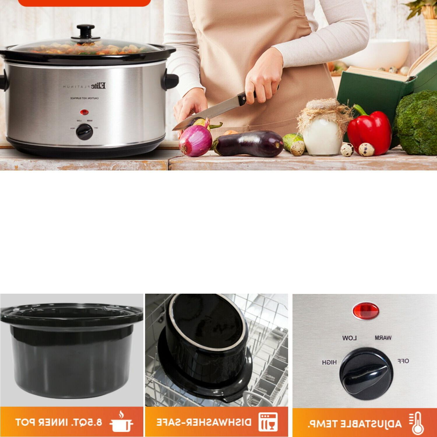 Slow Cooker 8.5 Manual Stoneware
