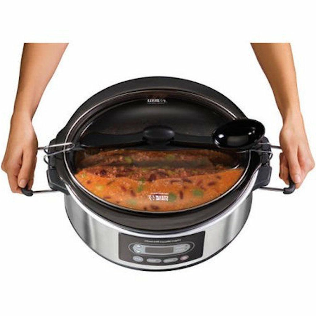 Slow Cooker Oval Hamilton PROGRAMMABLE Buffet Dinner SHIPS