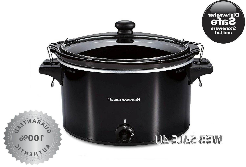 slow cooker 10 quart stoneware crock pot