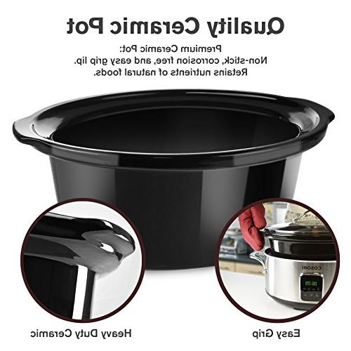 COSORI Cooker Programmable Stainless Steel Oval 6.5
