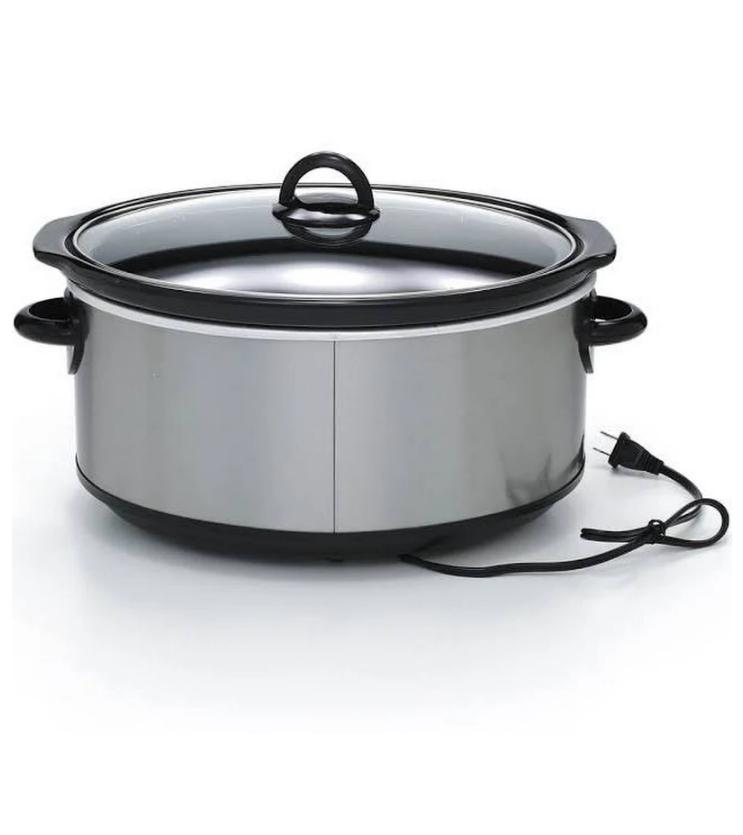 Slow Manual Cooker, Stainless Steel 7 Gray