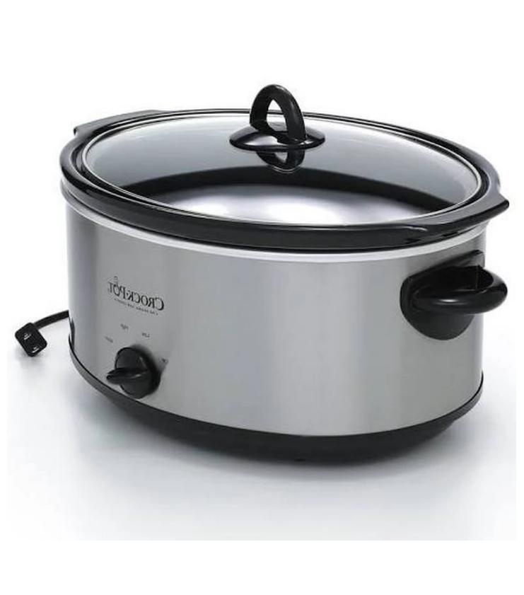 Slow Cookers, Crock-Pot Manual Cooker, Stainless Steel - 7 qt, Gray