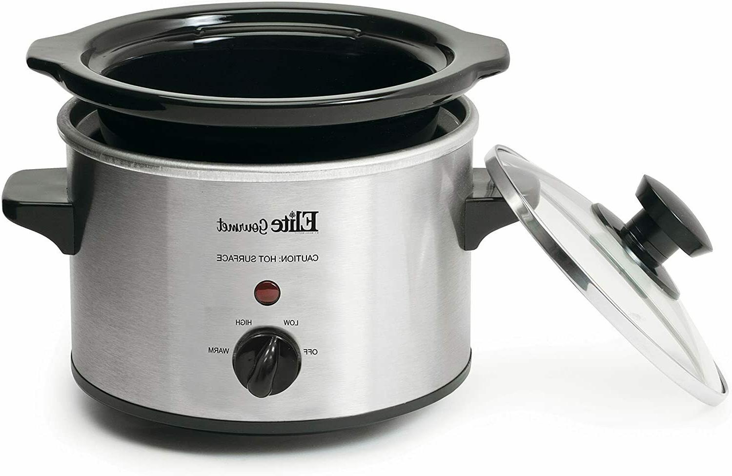 Small Slow Steel Pot Kitchen Appliance Portable