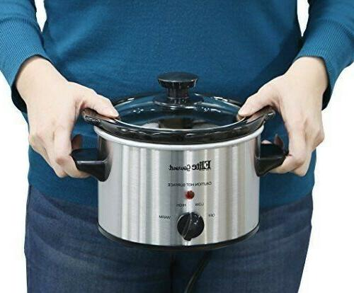 Small Slow Steel Pot Kitchen Portable 1.5