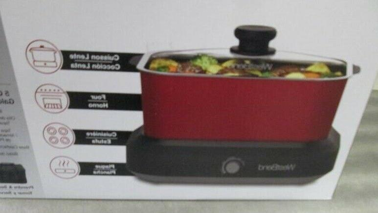 """West Bend Stainless Steel 5 Qt. Versatility Cooker, 12 1/2"""""""