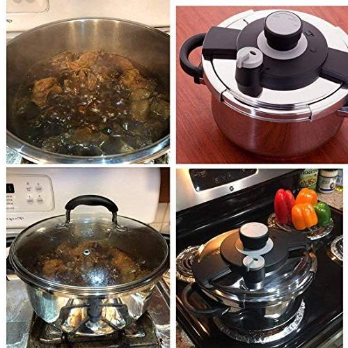 Z&L 4 Steel Pressure One-hand Settings Pressure Cooker Stove Top,Induction Cookware.