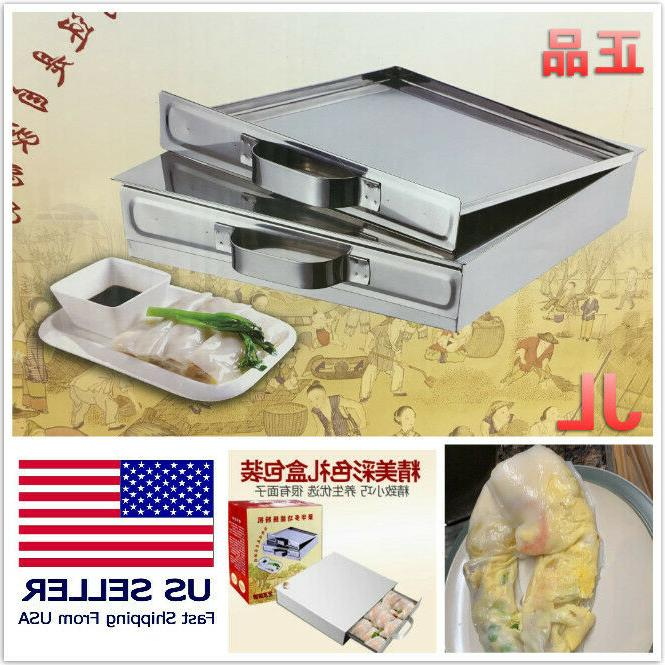 stainless steel rice noodle rolls machine steamed