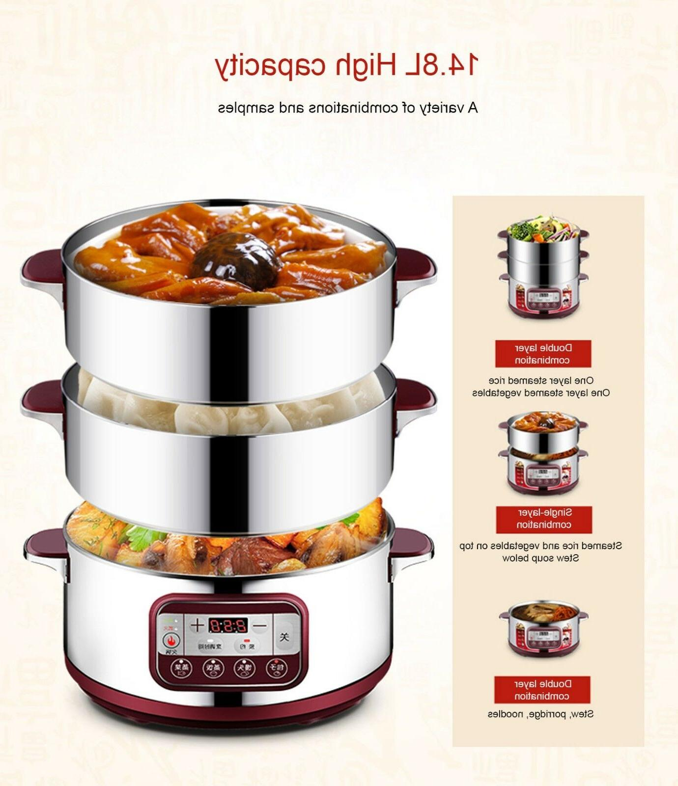 Midea STEAM COOKER STEAMER 3 TRAY DIAL HEALTHY