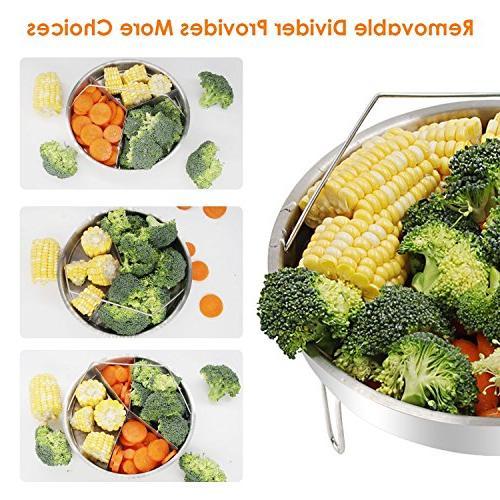 Steamer Basket Basket, Egg Rack, Tong Bowl/Plate - and Quart Instant Pot, XL