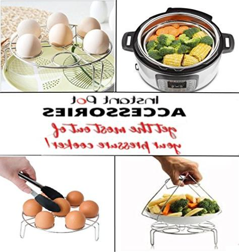 Steamer Pot Basket, Trivet/ Tong Bowl/Plate and Pot, Crock-Pot, Pressure Cooker XL