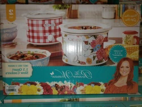 The Pioneer Woman Sweet Rose & Gingham 1.5-Quart Slow Cooker