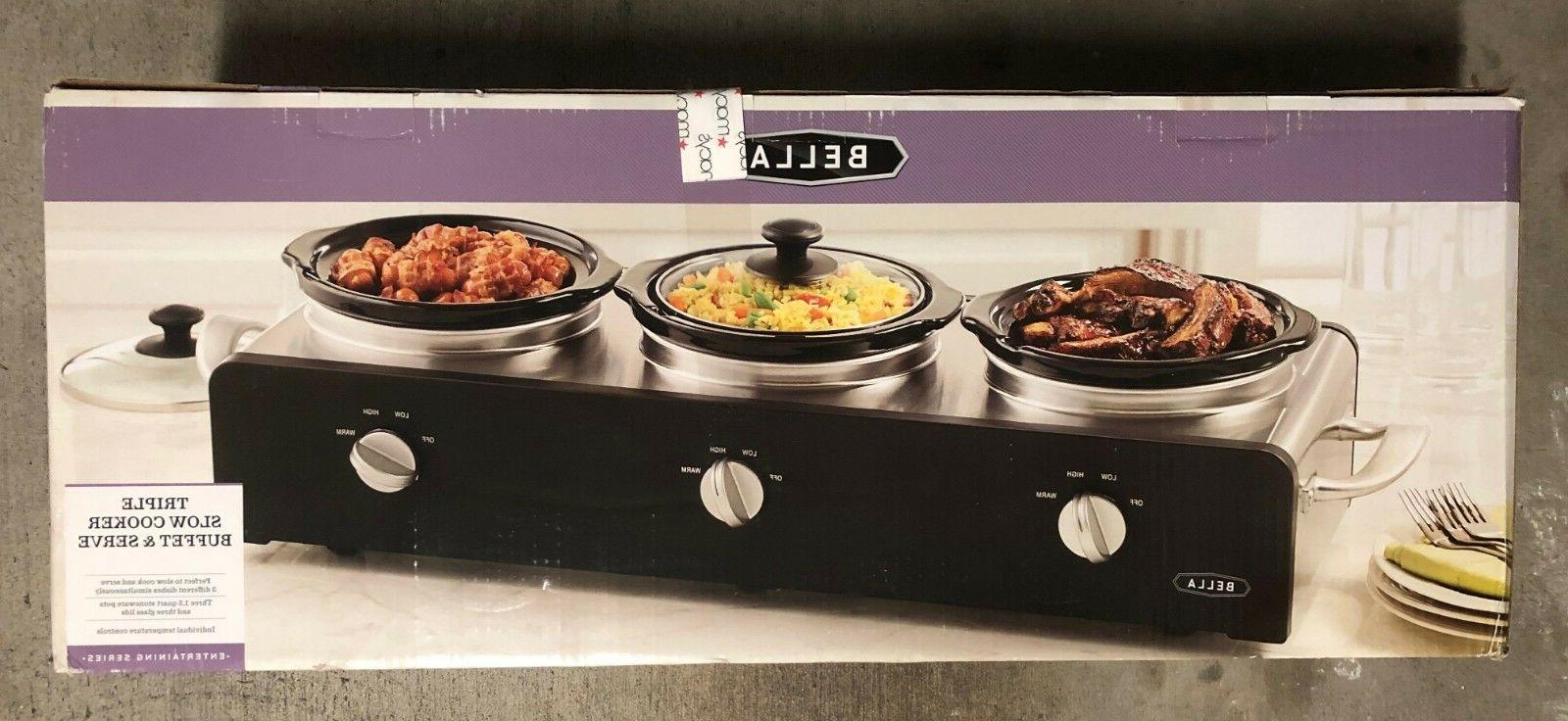 triple slow cooker buffet and serve 3
