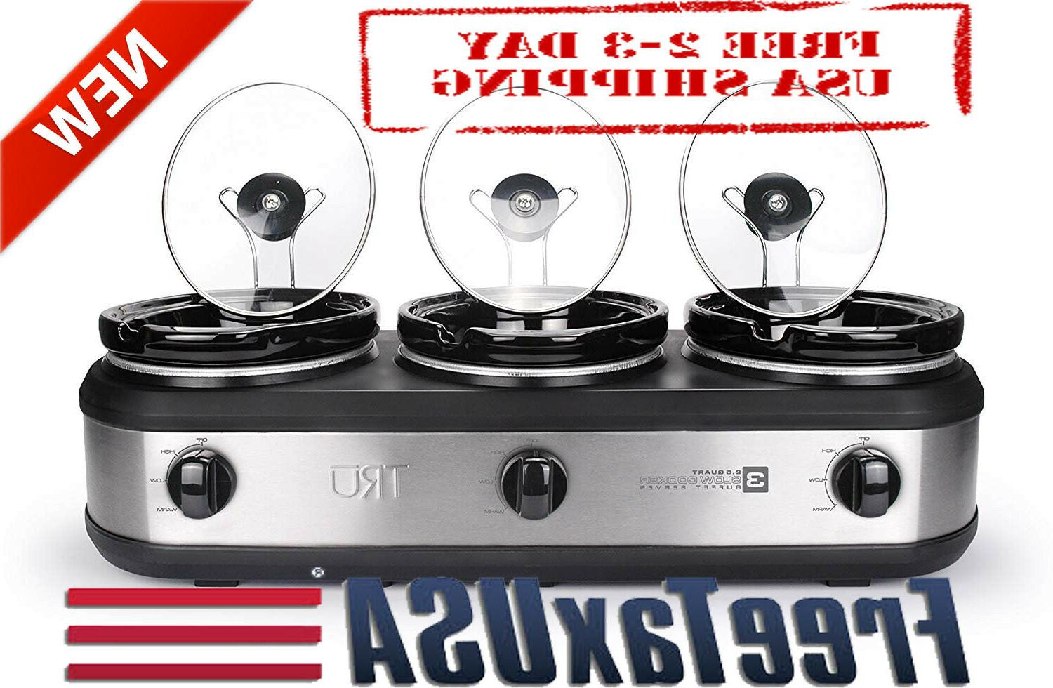 tru bs 325lr slow cookers three oval
