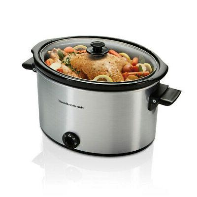 10 quart large slow cooker crock pot
