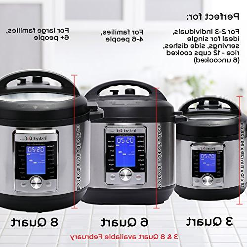 Instant Ultra 3 Qt Programmable Pressure Slow Cooker, Rice Maker, Cake Egg Cooker, Sauté, Steamer, Warmer, and