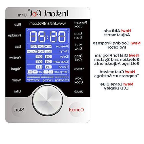 Instant Ultra 3 Qt Programmable Pressure Cooker, Rice Cooker, Maker, Cooker, Sauté, Steamer, and