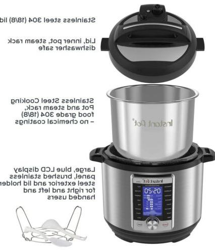 Instant Ultra Electric Cooker, Stainless Steel, 6