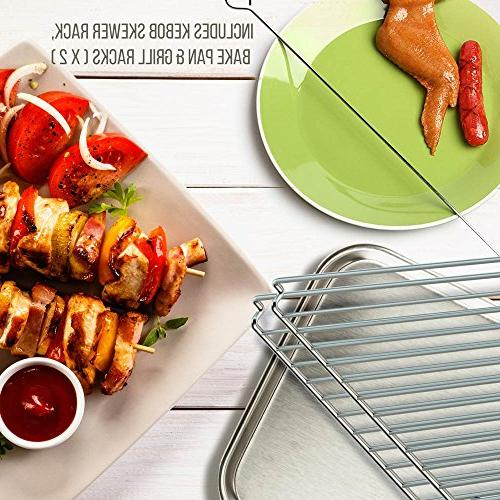 Oven - Vertical Oven Thanksgiving, Broil Roasting Rack with Settings, 2 - PKRT97