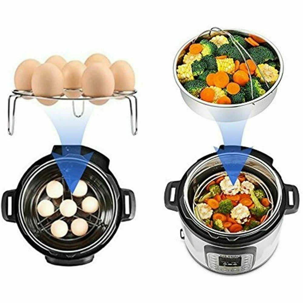 USA Pot Accessories Egg Steamer Basket 5 6 QT Set Pressure