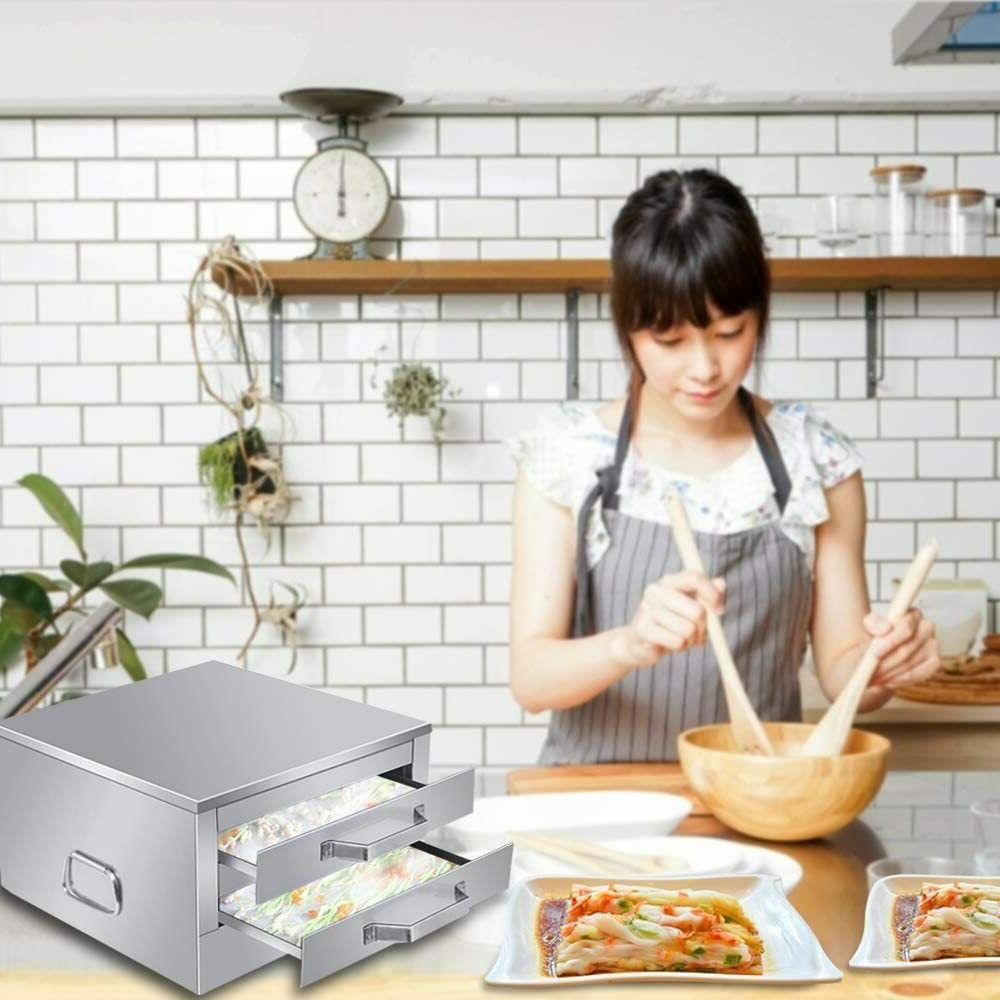 USA Stainless Layer Noodle Roll Steamer, maker machine