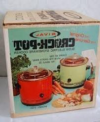 Vintage 1970s Avocado Green Rival 3100 Crock Pot Slow Cooker